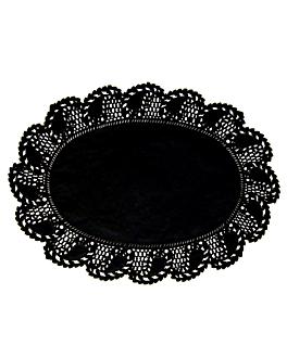 blondas ovales caladas 27x19 cm negro litos (250 unid.)