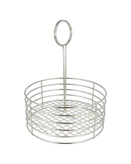 round caddy Ø 19x24 cm silver stainless steel (1 unit)