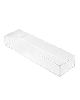 vassoio per prodotti accoglienza 24x6,8x3,7 cm trasparente metacrilato (1 unitÀ)