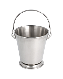 mini ice buckets Ø 12x12 cm silver stainless steel (12 unit)