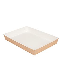 plateaux repas 'thepack' 230 g/m2 25,5x18x3,7 cm naturel carton ondulÉ nano-micro (130 unitÉ)