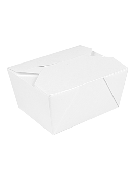 microwavable boxes rectangular 'thepack' 780 ml 230 + 12pp gsm 11,3x9x6,3 cm white nano-micro corrugated cardboard (500 unit)