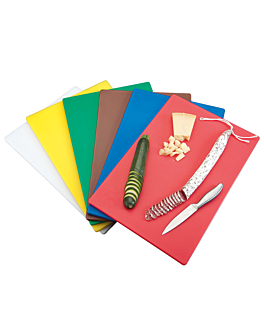 set of 6 cutting boards in 6 colours 40x30x1 cm assorted peld (1 unit)