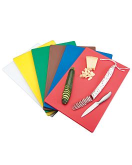 set de 6 tablas para cortar en 6 colores 40x30x1 cm surtido peld (1 unid.)