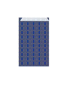 bolsas planas abetos 60 g/m2 12+5x18 cm azul celulosa (250 unid.)