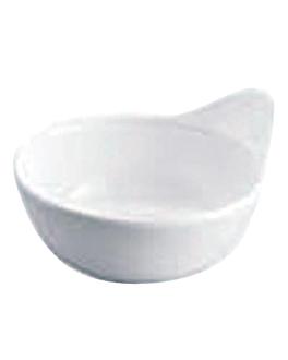 bols ovales 12,4x10,7x6 cm blanc melanine (192 unitÉ)