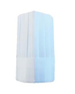 gorros ajustables clÁsicos 26 cm blanco papel telado (10 unid.)