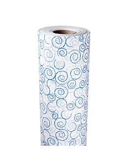 "mantel en rollo ""mogador"" azul 60 g/m2 1,18x40 m blanco airlaid (1 unid.)"