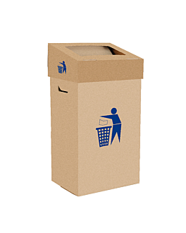 15 caixotes do lixo + tampas 75 l 37,3x27,3x72 cm castanho kraft (1 unidade)