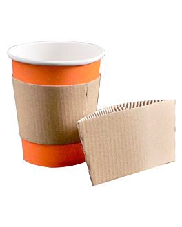 sleeves for cups 240 ml 170 + 90 gsm 11,2/9,5x5 cm natural cardboard (1000 unit)