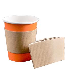 bagues pour gobelets 240 ml 170 + 90 g/m2 11,2/9,5x5 cm naturel carton (1000 unitÉ)
