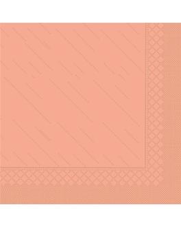 """serviettes """"quattro"""" ecolabel 4 plis 21 g/m2 45x45 cm saumon ouate (750 unitÉ)"""
