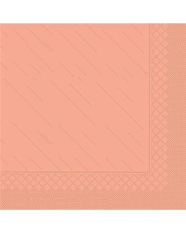 """quattro"" napkins ecolabel 4 ply 21 gsm 45x45 cm salmon pink tissue (750 unit)"