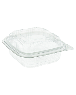 confectionery containers + lid 250 ml 11,3x12x5,5 cm clear rpet (700 unit)