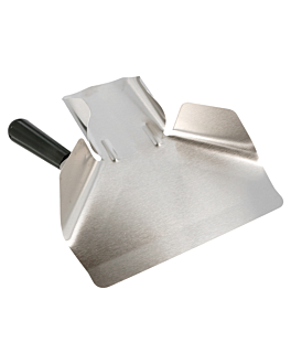 1 handle fry scoop 20x22,5x5 cm silver stainless steel (1 unit)