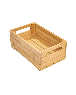 buffet box gn 1/4 26,5x16,2x10 cm natural bamboo (1 unit)