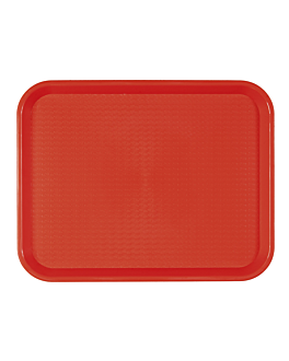 fast food tray 27,5x35,5 cm red pp (1 unit)