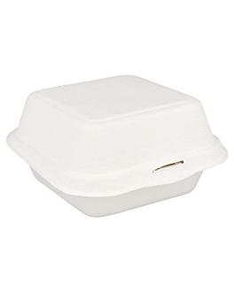 contenitori hamburger 'bionic' 450 ml 15,2x15x8,4 cm bianco bagassa (600 unitÀ)