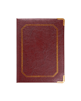 box for bill and change 17x22,8x2 cm burgundy leather (1 unit)