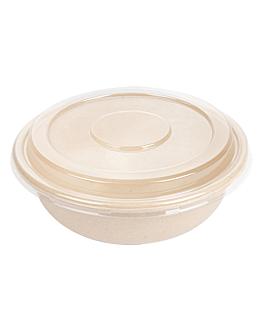 combo insalatiera+copperchio 'bionic' 750 ml Ø 17,5x7,8 cm naturale bagassa (200 unitÀ)