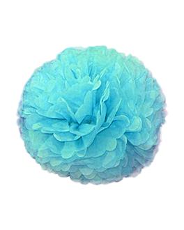 pom pom flower Ø 48 cm azul (10 unid.)