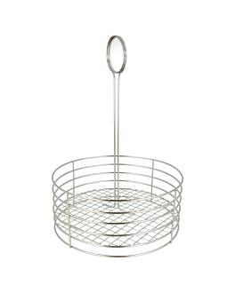basket rond Ø 22x30,5 cm argente inox (1 unitÉ)