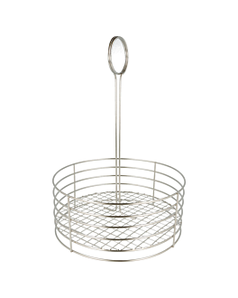 round caddy Ø 22x30,5 cm silver stainless steel (1 unit)