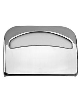"""dispensador protector asiento """"w.c."""" 41,7x29x5 cm plateado metal (1 unid.)"""