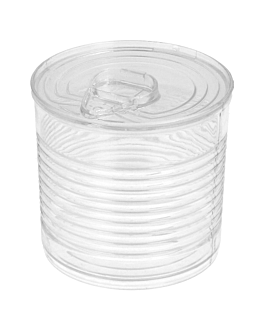 tin cans 110 ml Ø 6x5,7 cm clear ps (200 unit)