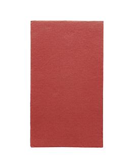 serviettes ecolabel p. 1/6 'double point' 18 g/m2 33x40 cm bordeaux ouate (2000 unitÉ)