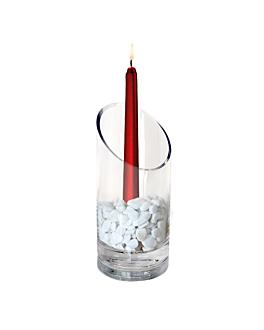 decoration verre 10,8x18 (h)cm transparent verre (4 unitÉ)