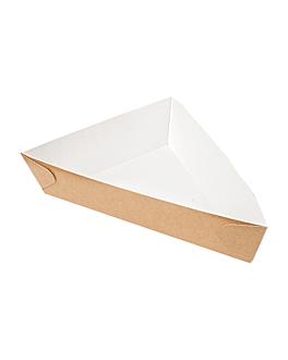 triangular containers 'thepack' 220 gsm 14,5x19x3,5 cm natural nano-micro corrugated cardboard (400 unit)