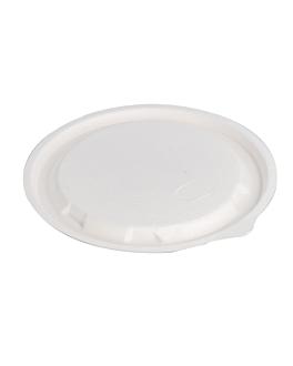 flat lids for item 215.84 'bionic' Ø 14x0,7 cm white bagasse (900 unit)