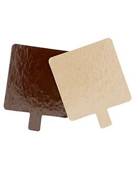 cartones pastelerÍa doble cara 1100 g/m2 8x8 cm chocolate/pralinÉ cartÓn (200 unid.)