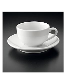 milchkaffeetassen + untertasse 200 ml 8,5x7 cm weiss porzellan (24 einheit)