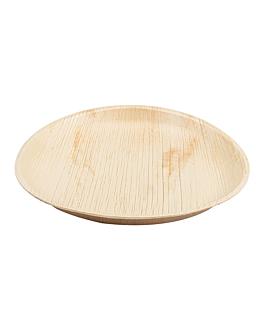 assiettes rondes 'areca' Ø 25x2,5 cm naturel areca (200 unitÉ)