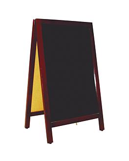 pizarra en Ángulo 2 caras 50x85x40 cm negro madera (1 unid.)
