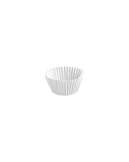 cÁpsulas 'petits fours' 50 g/m2 Ø 2,4x2 cm blanco perg. antigrasas (500 unid.)