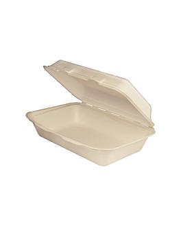 "conchas ""l"" 'bionic' 1 l 16x24x7,5 cm natural bagazo (400 unid.)"