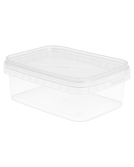 recipientes inviolables + tapas 280 ml 12x8,8x4,2 cm transparente pp (384 unid.)