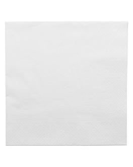 servilletas ecolabel 2 capas 18 g/m2 39x39 cm blanco tissue (1600 unid.)