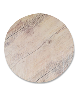 round trays imitation wood Ø 33 cm melamine (3 unit)