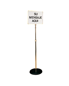 """soporte pie con poster """"bragger"""" 28x35 cm dorado metal (1 unid.)"""