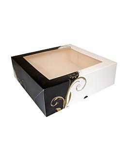 boÎtes pÂtisseries avec fenÊtre 300 g/m2 32x32x10 cm blanc carton (50 unitÉ)