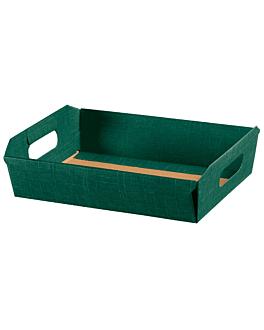 30 u. cestas 40x30x12 cm verde cartÓn (30 unid.)