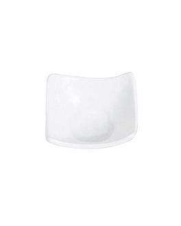 platillos cuadrados 7,6x7,6x3,4 cm blanco porcelana (12 unid.)