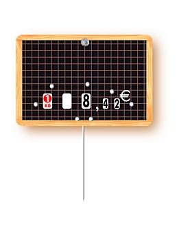10 u. Étiquettes À prix modifiable 8x12x0,1 cm assorti pvc (1 unitÉ)