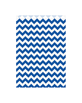 sachets plats liserÉ 60 g/m2 26+9x38 cm bleu marine kraft vergÉ (250 unitÉ)