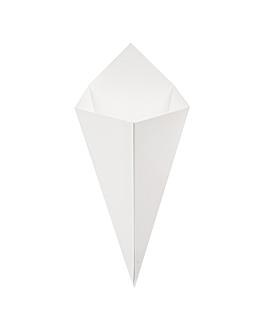 cornets frites 'thepack' 250 g 230 g/m2 15,7x26,8 cm blanc carton ondulÉ nano-micro (1200 unitÉ)