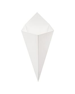 coni per fritti 'thepack' 250 g 230 g/m2 15,7x26,8 cm bianco cartone ondulato a nano-micro (1200 unitÀ)